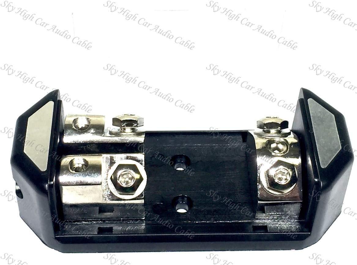 1 4 ga ANL Fused Distribution Block Dual ANL Fuse Holder 1//0 to 2