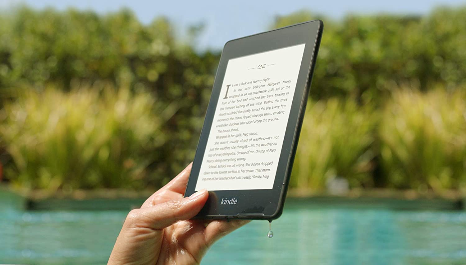 Kindle Paperwhite – Now Waterproof with greater than 2x the Storage, 32 GB, Wi-Fi + Free Cellular Connectivity