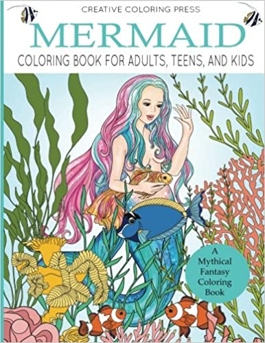 Amazon Com Mermaid Coloring Book For Adults Teens And Kids A