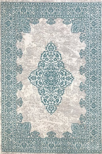 Modern Style Rugs New Royal Traditional Grey Duck Egg Blue Antique Look...