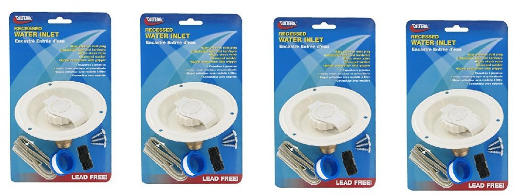 Valterra A010177LFV Colonial White Metal Recessed Water Inlet (4)