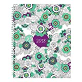 Blueline 2018 DoodlePlan Coloring Monthly Planner, 14- Month (Dec 2017 - Jan 2019), Botanica Designs, 11 x 8.5 inches (C2921.01-18)