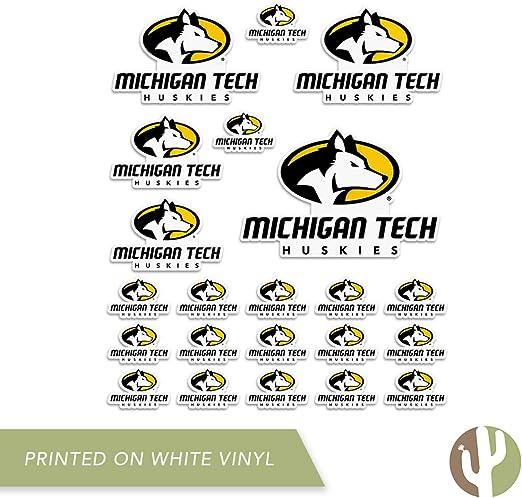 Sheet Type 3-1 Michigan Technological University MTU Huskies NCAA Sticker Vinyl Decal Laptop Water Bottle Car Scrapbook