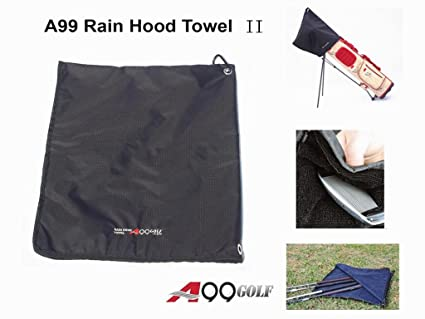ad39fabdd2f6 A99 Golf Rain Hood Towel Waterproof Golf Bag Cover Black New