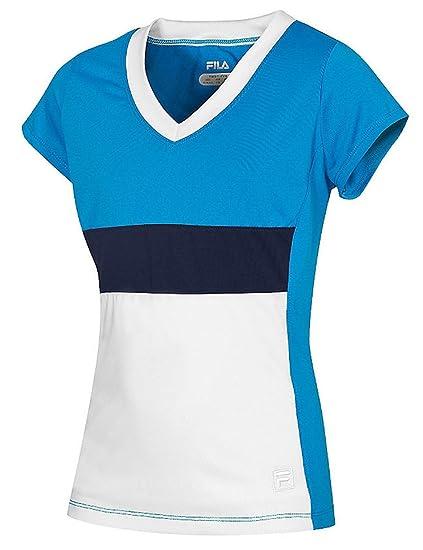 Amazon.com  Fila Heritage Cap Sleeve Shirt  Clothing ea15efbe2cf1