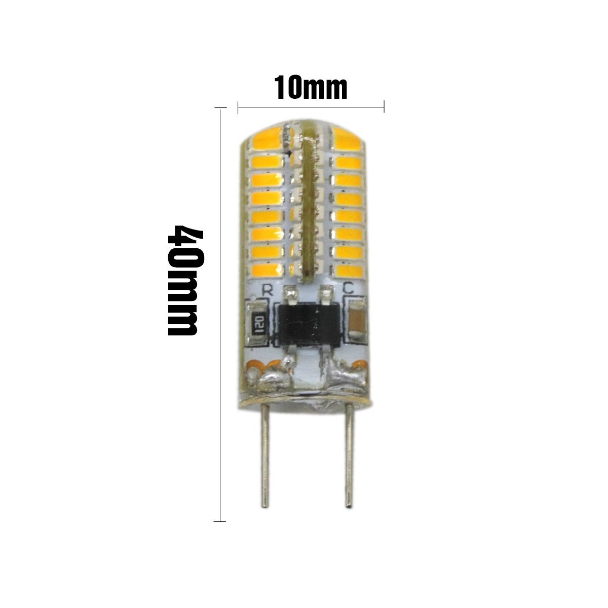 BMY Startseite Led Lampen 5 STÜCKE G8 64 LED 3014SMD 3 Watt 200 300 Lm  Warmweiß Dimmbare ...