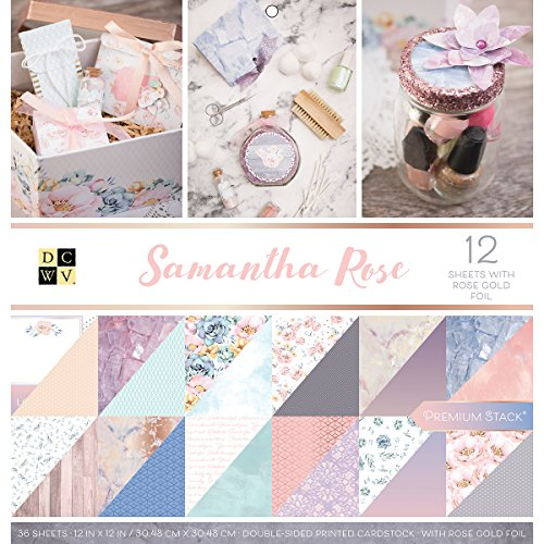 American Crafts Card Stock 12''X12'' Samantha Rose Premium Printed Cardstock Stack by American Crafts