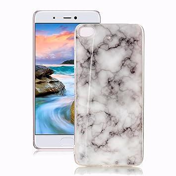 Yunbaoz Funda Compatible para XiaoMi Mi 5S Mármol, Diseño Mármol Carcasa Suave Goma Silicona Soft Marble Case Suitable for XiaoMi Mi 5S - Blanco Humo