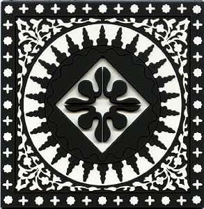 Images d'Orient Coasters, Mosaic Black & White, Set of 6