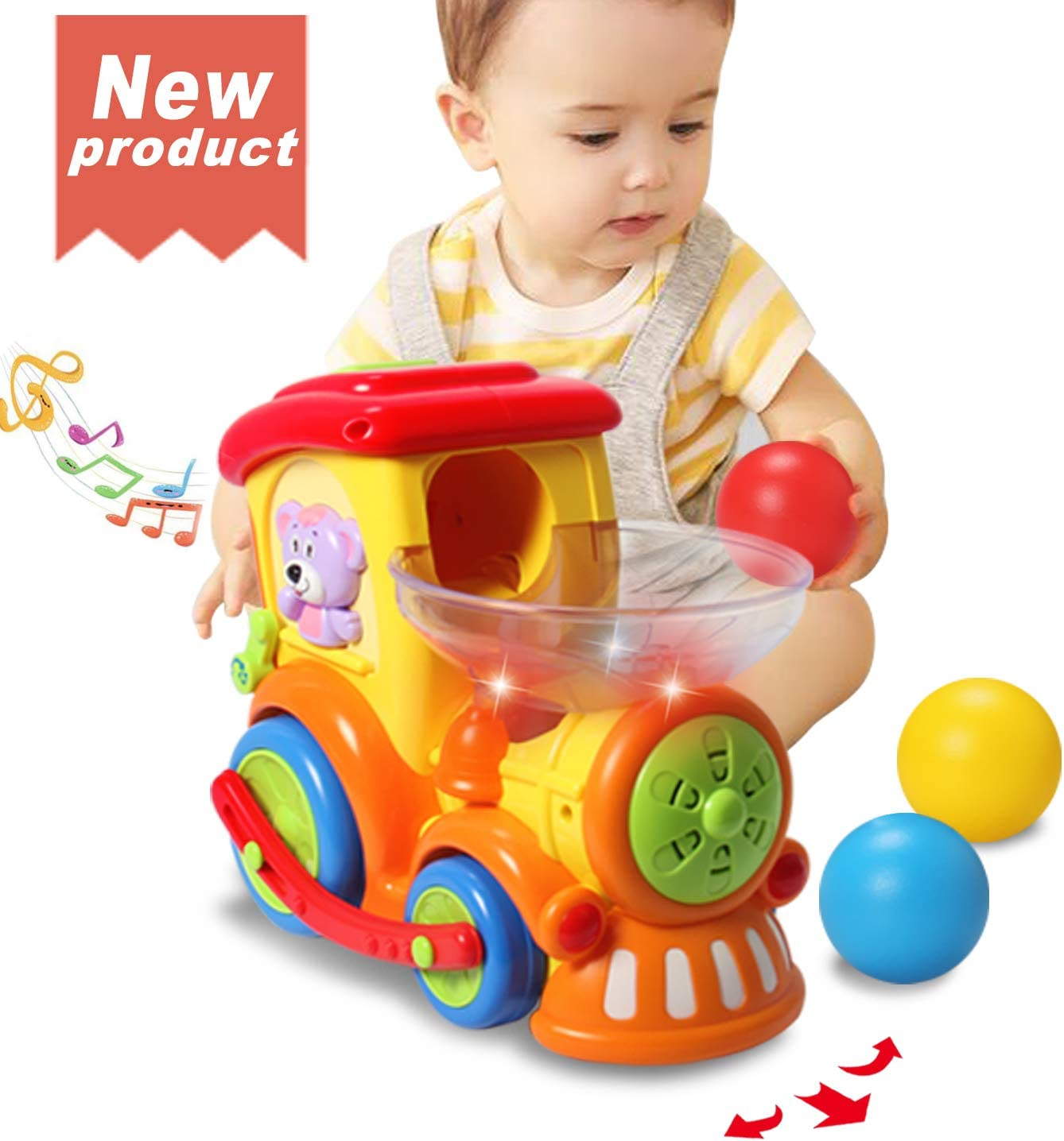 Baby Toddler Wind Up Musical TV Activity Toy 12 Months