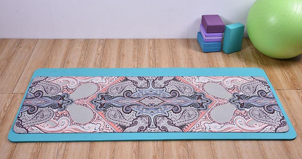 HJZ Frauen Natural NBR Bequeme Non Slip Yoga Mat Und Pilates Pilates Und Mat Kit Sport Und Workout Mehr SchöNes Design Faltung Typ 9faaa9
