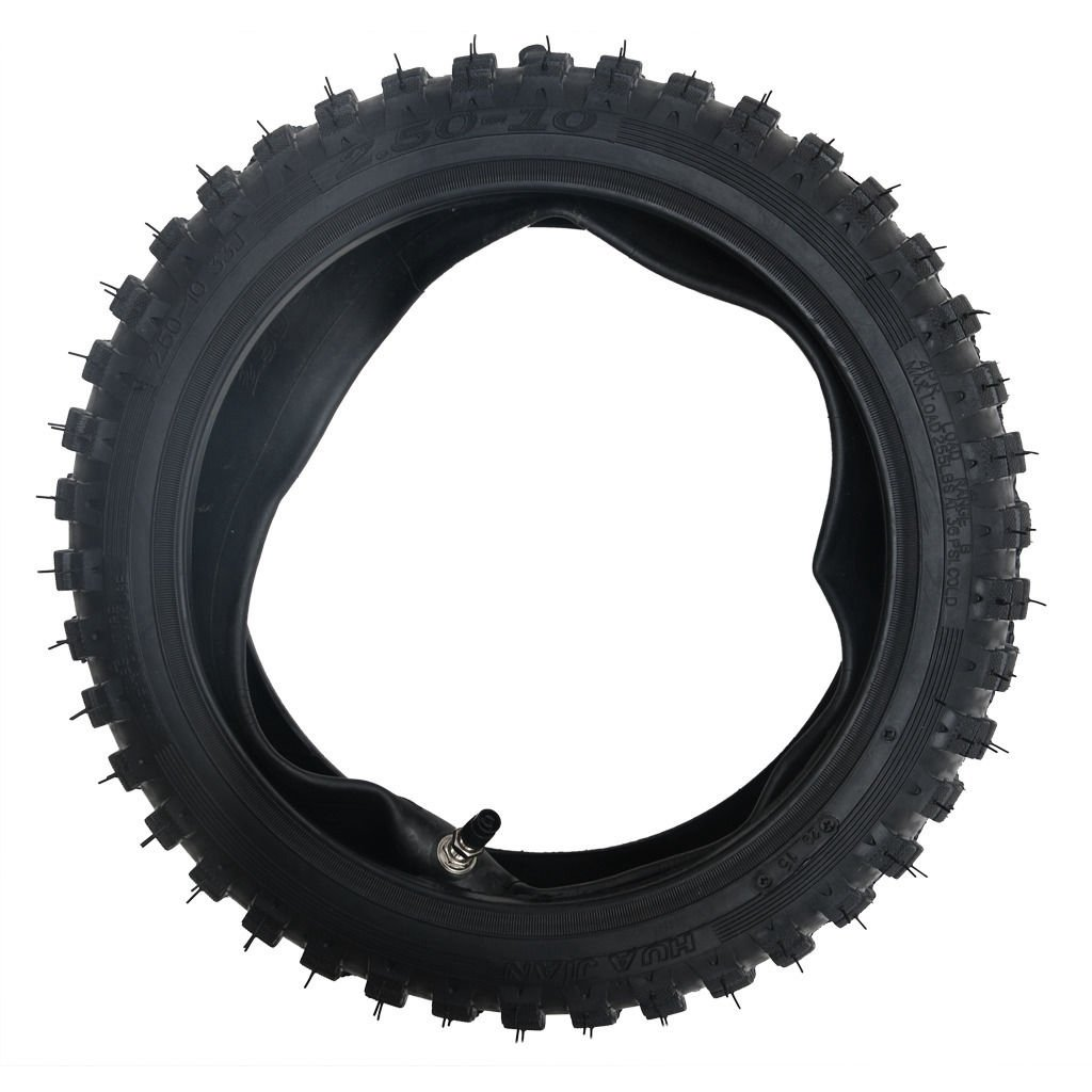2.50-10 Inch 2.5/10 Tire With Tube For Dirt Pit Bikes CRF50 HUAJIAN