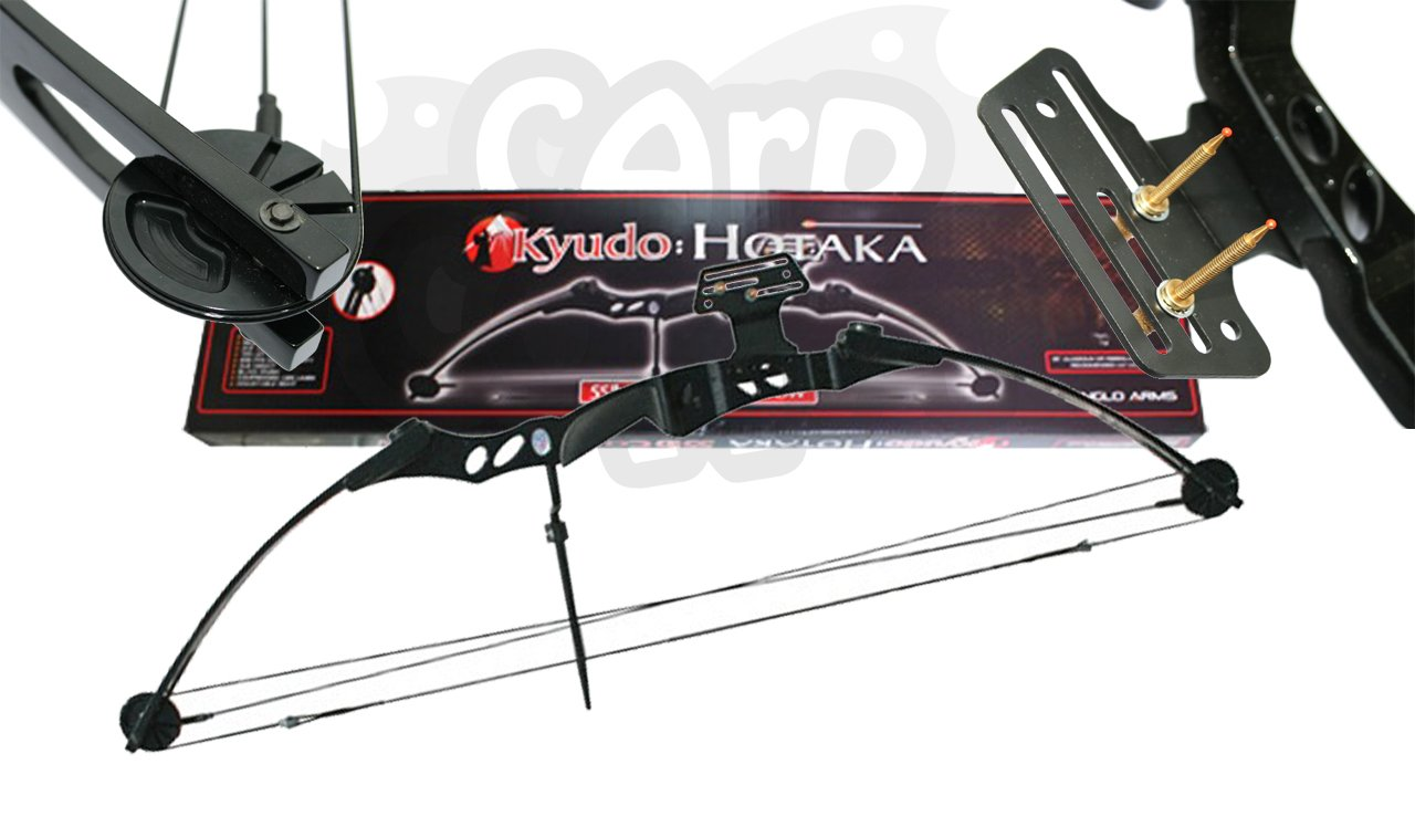 Adults 55lb Black 'Hotaka' Compound Archery Bow For Hunting Target Shooting Carp Corner