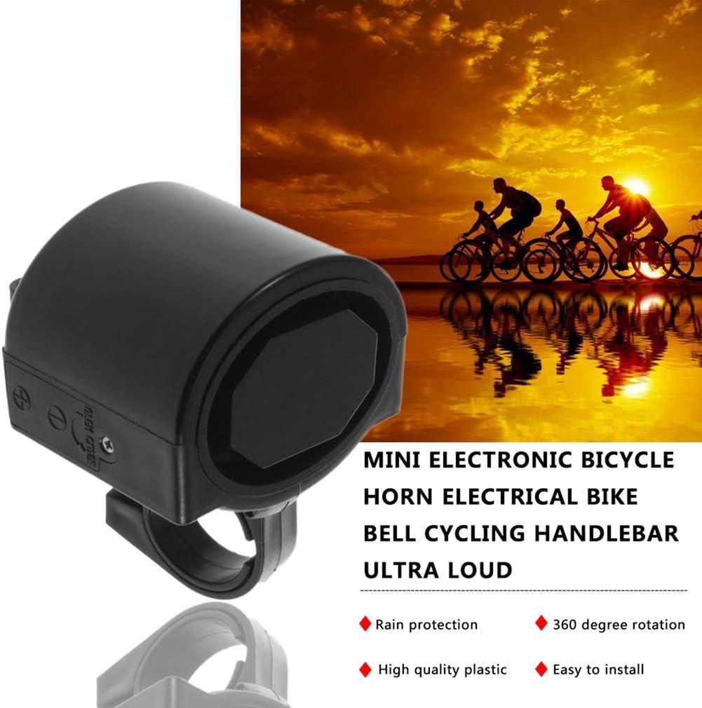 color negro KinshopS Mini timbre electr/ónico para bicicleta