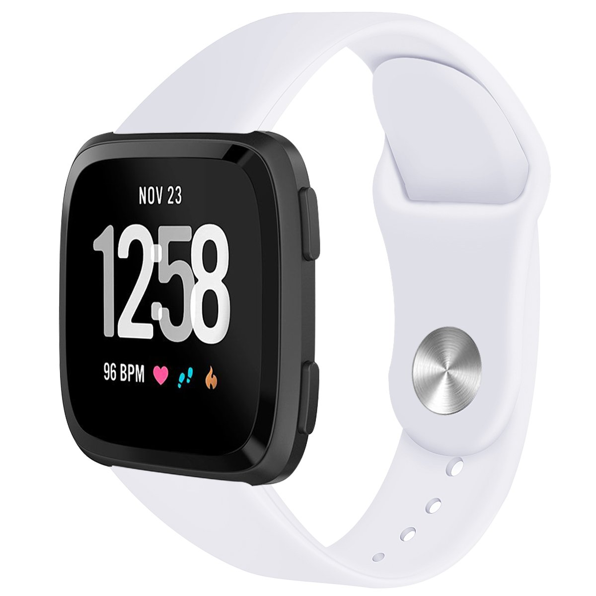 Yaberソフトシリコン交換ストラップスポーツバンドfor Fitbit Versa Smart Fitness Watch B07FVS93DT ホワイト Large