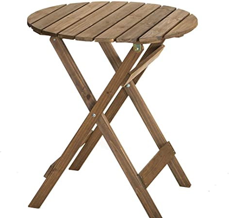 KSW_KKW Mesa Plegable Redonda portátiles y sillas de la terraza del jardín Café Mesa Redonda de Centro de Madera Tabla Inicio (类别 Category : Chairs): Amazon.es: Hogar