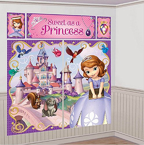 Disney Sofia the First Scene Setters Wall Banner Decorating Kit Birthday Party Supplies -