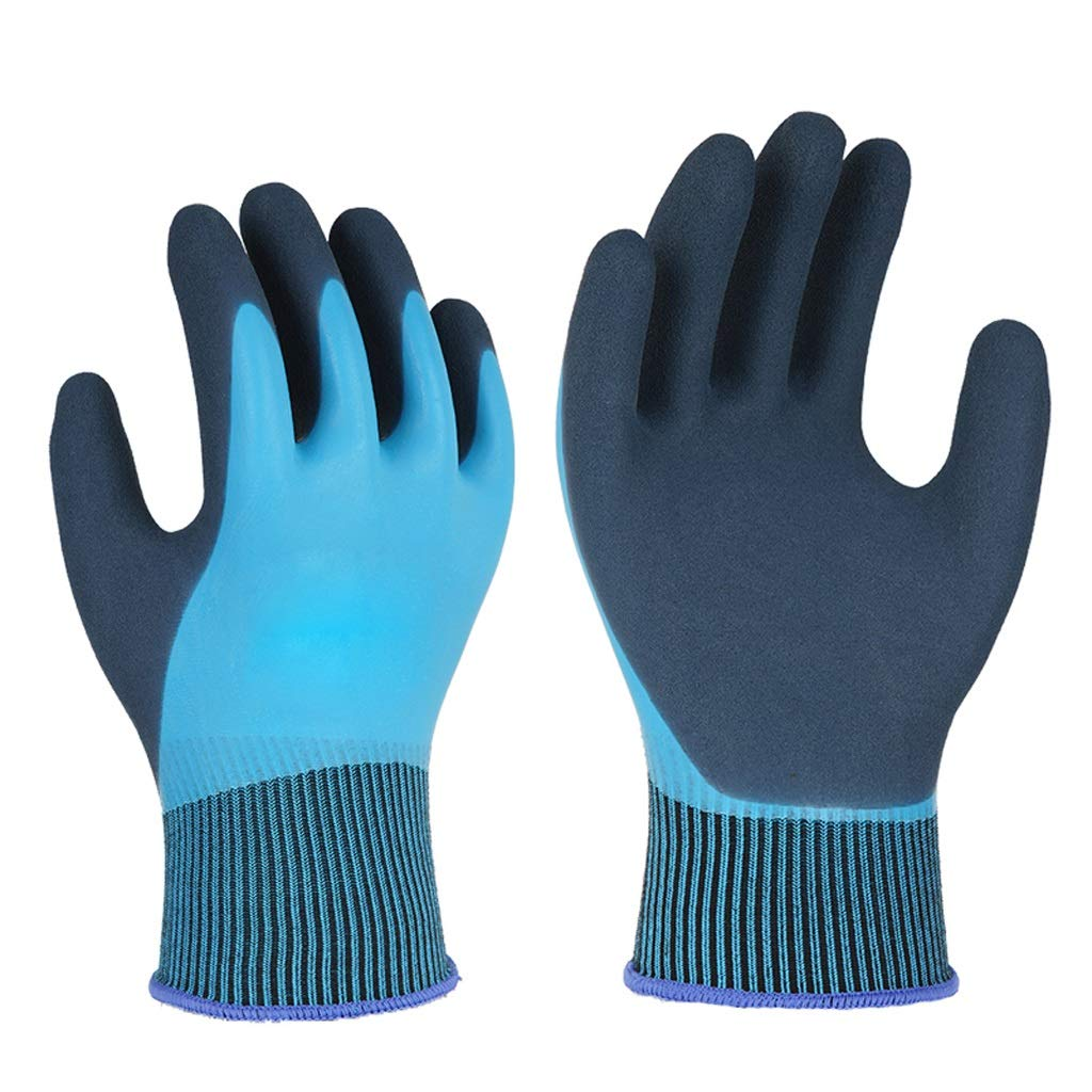 AINIYF Gloves Wear-resistant Non-slip Waterproof,Industrial Gloves Double-layer Adhesive Matte Wear-resistant Gloves(12 Pairs Per Pack)