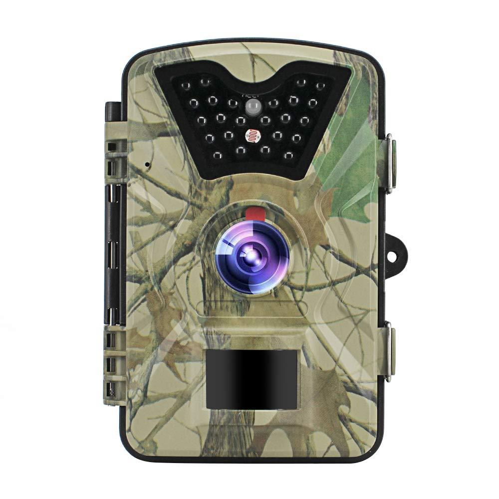 godbless Wild Cámara 1080P Full Hd 12MP parte & Wild Cámara, 0.5segundos Tiempo de disparo, 90° amplio Vision INFR arote 20m visión nocturna, LED Video Recorder de lluvia prueba franja Finder resistente al agua IP66