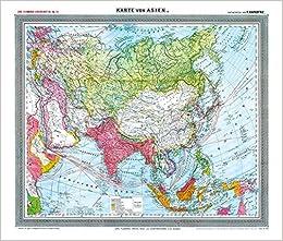 Landkarte Asien.General Karte Von Asien Um 1910 Gerollt Carl Flemmings
