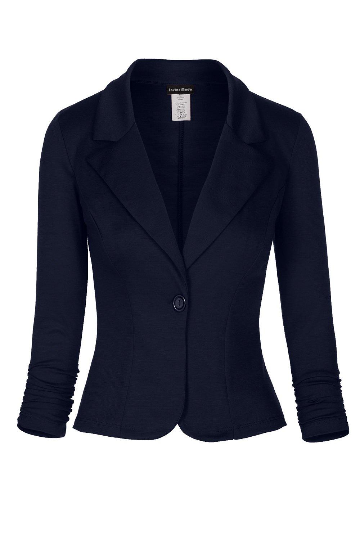 Instar Mode Women's Versatile Business Attire Blazers in Varies Styles (B028214 Navy, 2X-Large)