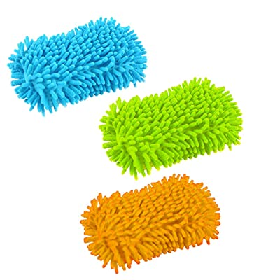Kitch N' Ware Microfiber Chenille Sponge - 3 Pack - Perfect for Home, Car, RV and Boat: Health & Personal Care