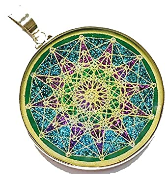 Amazon sixth dimension sacred geometry pendant in malachite sixth dimension sacred geometry pendant in malachite and sterling silver by scalar heart collection aloadofball Gallery