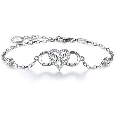 bracelet argent signe infini