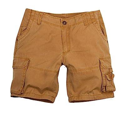 Kakadu Traders Australia Damen Cargo Shorts mit extra Taschen in blau, rost  und grau-