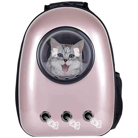 339dd506cae Giantex Astronaut Pet Cat Dog Puppy Carrier Travel Bag Space Capsule  Backpack Breathable (Golden)