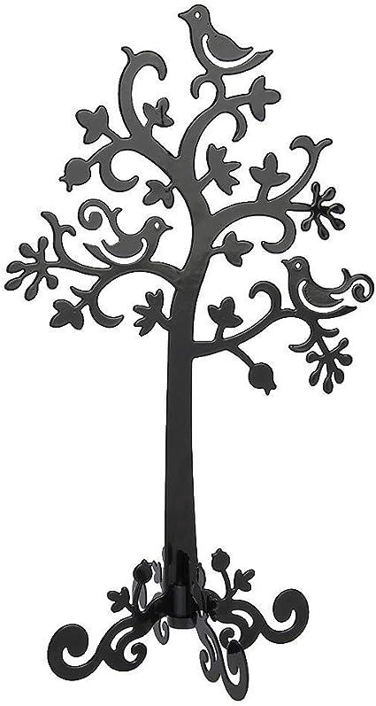 noir Bijoux Organisateur Oiseaux Arbre Boucles Doreilles Goujons Affichage Des Bijoux En M/étal Support Rack D/écoration Collier Titulaire