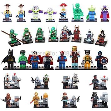 Amazon.com: 32 piezas/lot Marvel Super Heroes Tortugas Ninja ...