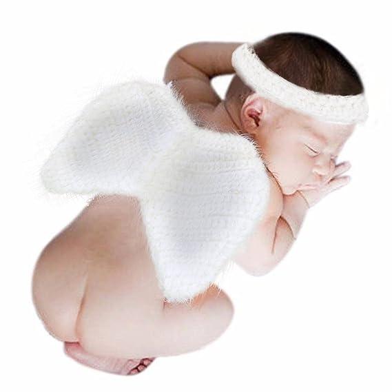 QinMM Disfraz Traje de ala de ángel de bebé recién Nacido para niños ...