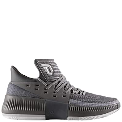 adidas Dame 3 Mens Mens By3193 Size 7.5 Grey-White 0e8282ad4