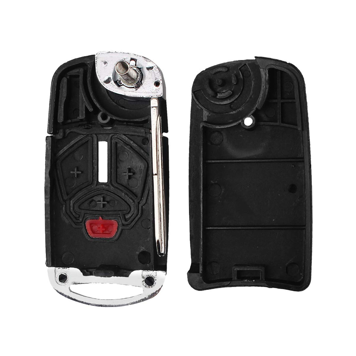 No Chip Heart Horse 4 Buttons Remote Flip Folding Key Shell for Mitsubishi Eclipse Lancer Endeavor Galant Outlander 2007-2012 Modified