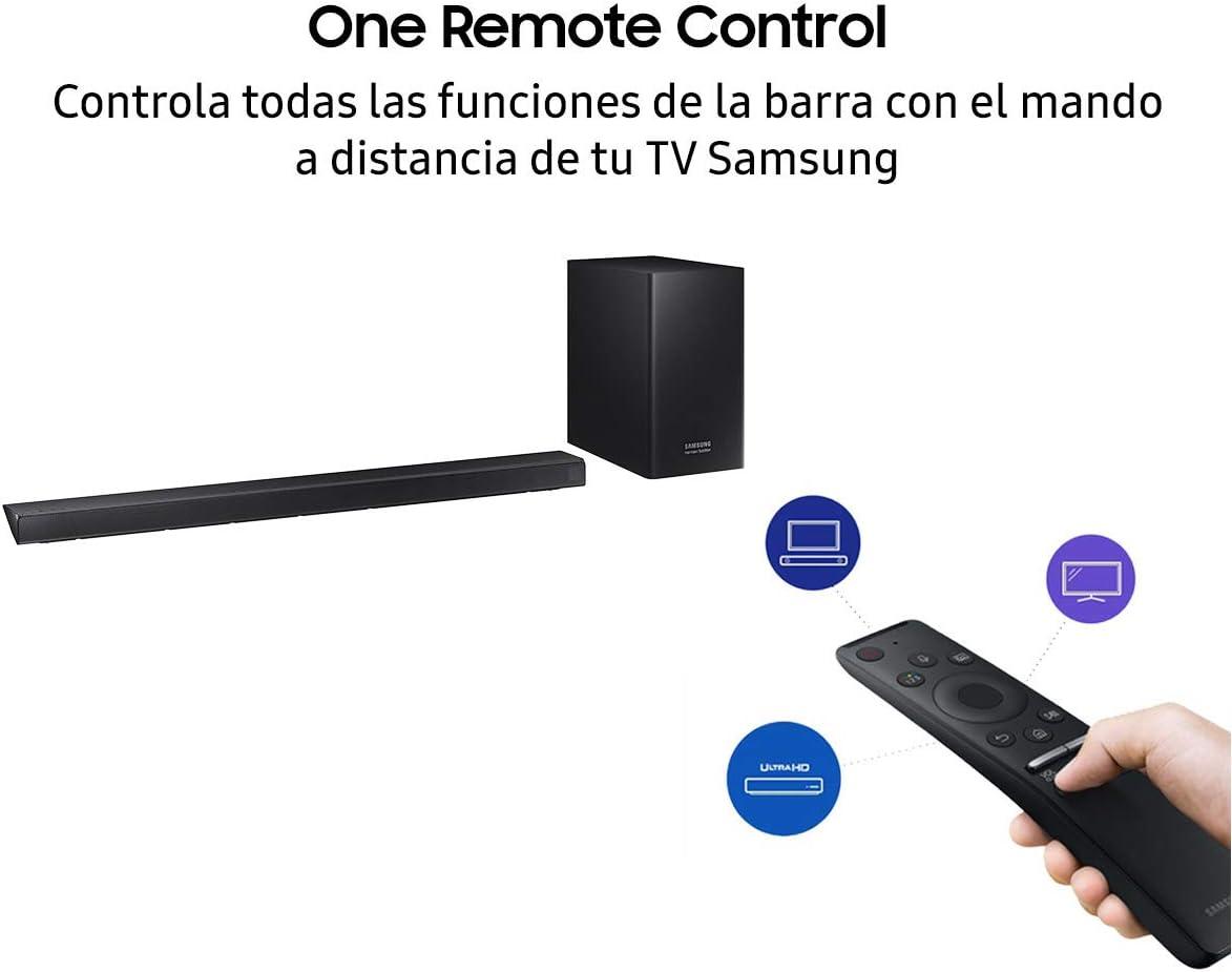Barra de Sonido Samsung HW-R550 2.1Ch 320W con subwoofer inalámbrico, Streaming de Música y Surround Sound Ready: Amazon.es: Electrónica