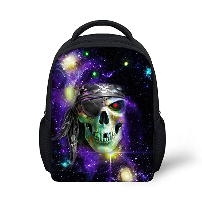 Coloranimal Retro Skull Pattern Preschool Student Mini Backpack Mochila Escolar