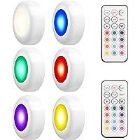 LEDGLE RGB Kastverlichting LED Spot Batterij-aangedreven Nachtlampje met Afstandsbediening, 4 Kleurmodi, 50lm, 3W, 6…