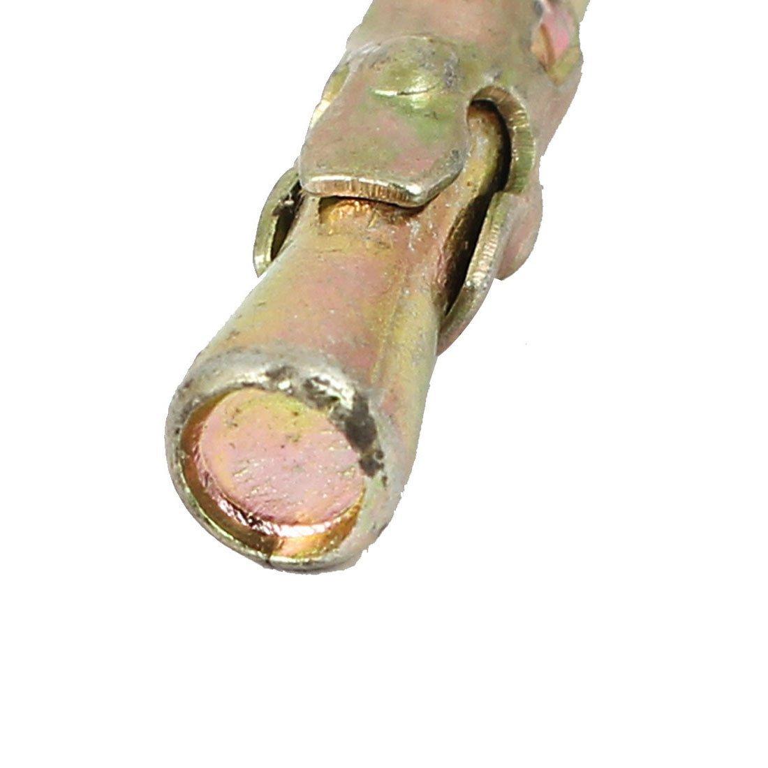 DealMux M8x100mm Wedge Anchor Car Repair Gecko de expansão do parafuso de bronze 6pcs tom