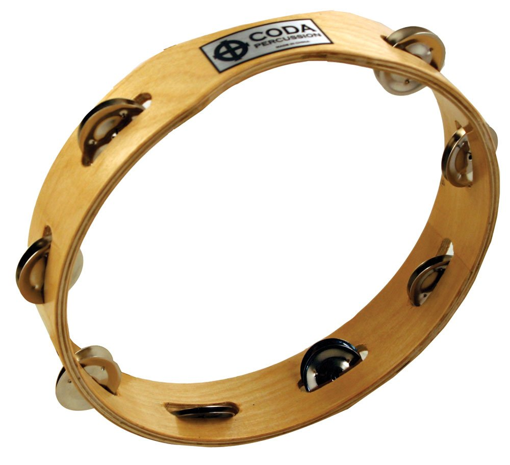 CODA DP-130-10 Wood Body Tambourine