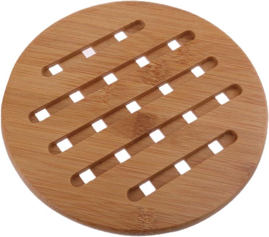 Fenteer Dessous de Plat Bambou Tapis Table Banquette Dessous de Th/éi/ère Durable 15cm