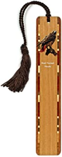product image for Personalized Red Tailed Hawk (Double-Sided) Wooden Bookmark with Tassel