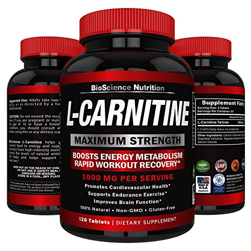 L Carnitine 1000mg Servings 120 Tablets product image