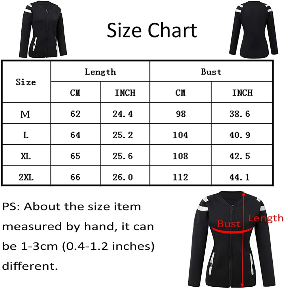 Women Hot Sweat Weight Loss Sauna Shirt Neoprene Top Workout Body Shaper Slimming Training Suit Zipper Shapewear Training