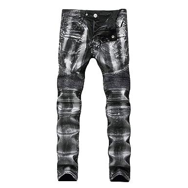 Männer Nner Jeanshose Mittlere Taille Straight Jeans Jungen