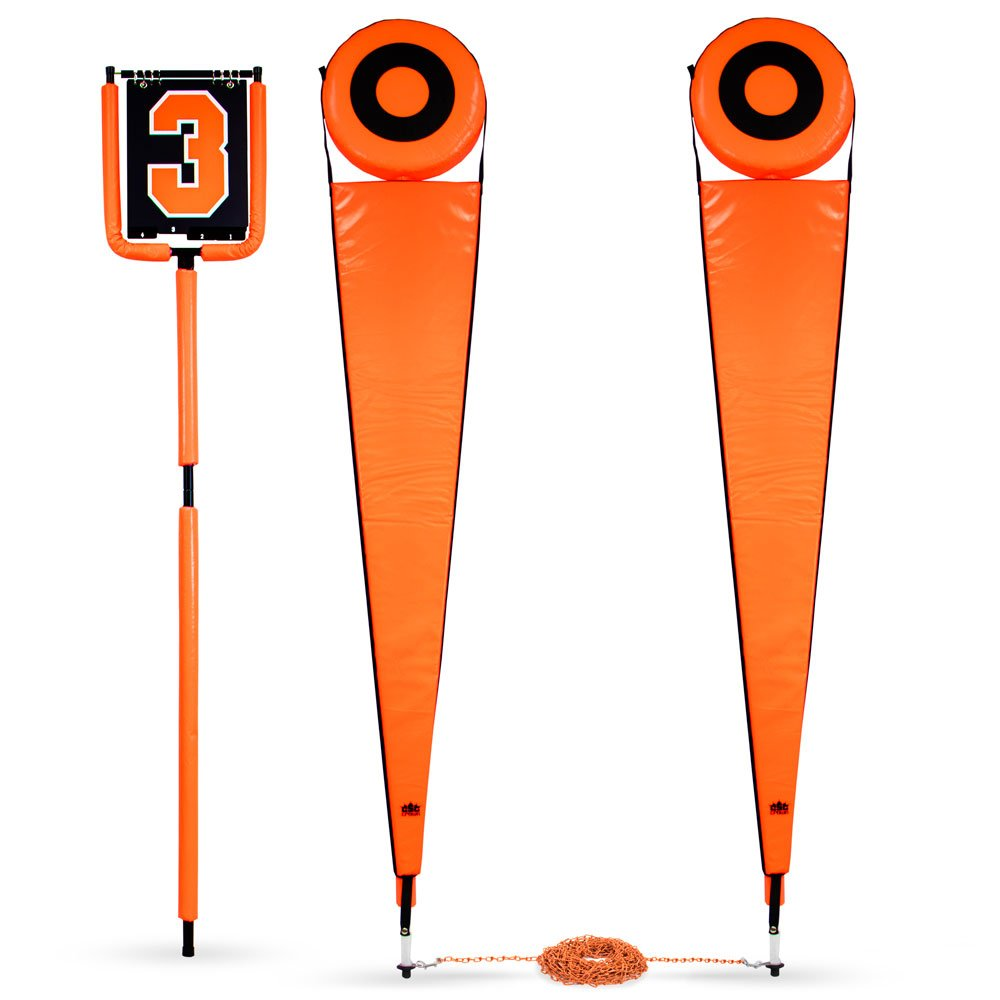 Crown Sporting Goods Football Down Marker & Chain Crew Set, Orange by Crown Sporting Goods