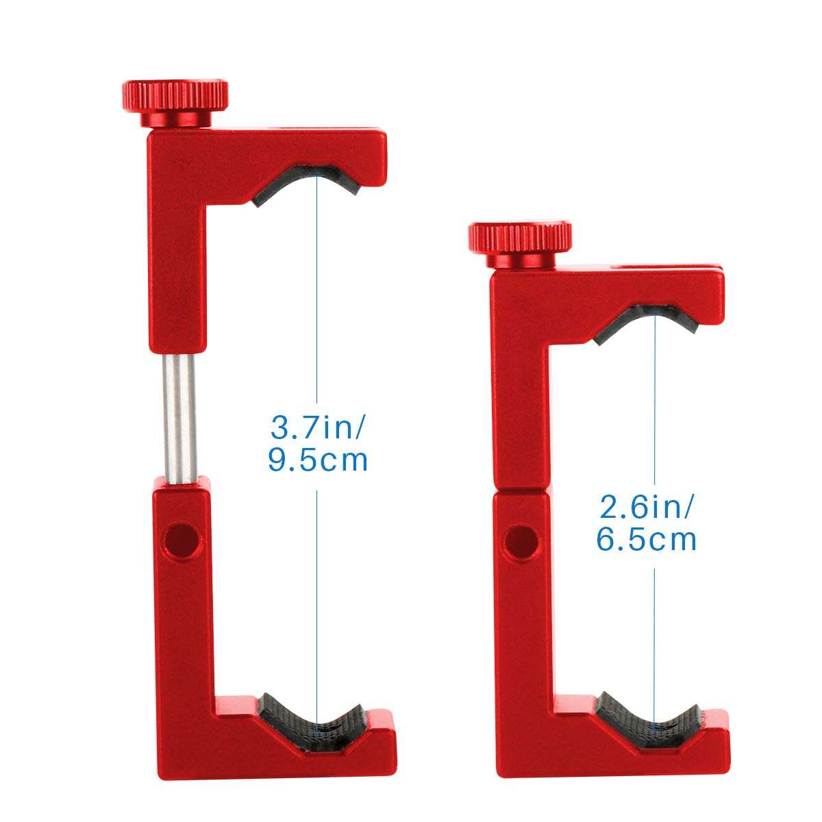 Universal Metal Adjustable Clamp for iPhone XS Xs Max X 8 7 Plus Samsung Huawei Android Smartphones Ulanzi ST-02S Newest Aluminum Phone Tripod Mount w Cold Shoe Mount Support Vertical and Horizontal