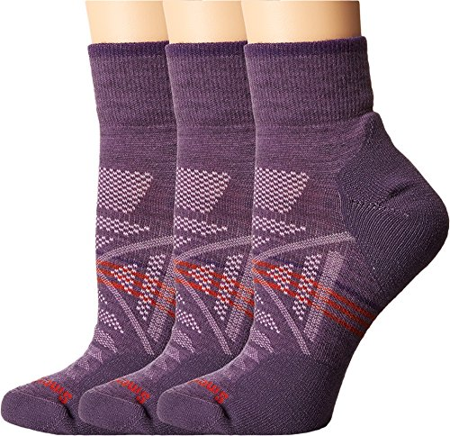 Smartwool Women's PhD Outdoor Light Mini 3-Pack Desert Purple Socks MD (Women's Shoe 7-9.5)