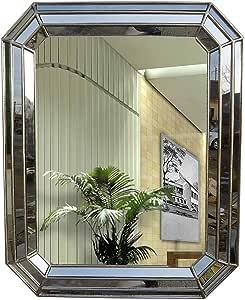 WWWRL Espejo de Pared Rectángulo/Biselado Espejo de baño/Porche ...