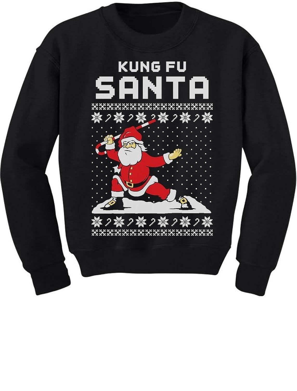 Amazon.com: TeeStars - Kung Fu Santa Ugly Christmas Sweater Funny ...